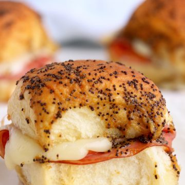 recipe for Air Fryer Ham and Cheese Sliders