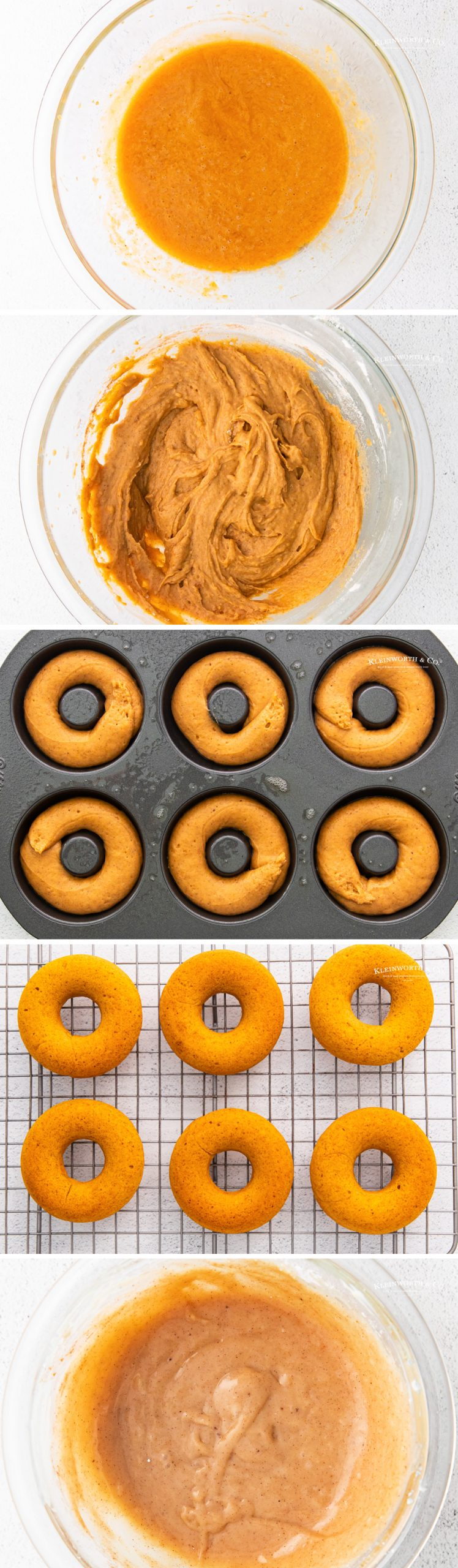 how to make Baked Pumpkin Donuts with Maple Cream Cheese Icing