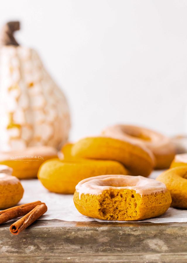 bite of a pumpkin donut