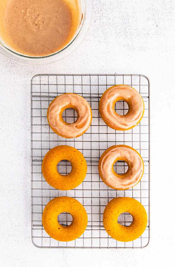 frosted pumpkin donuts