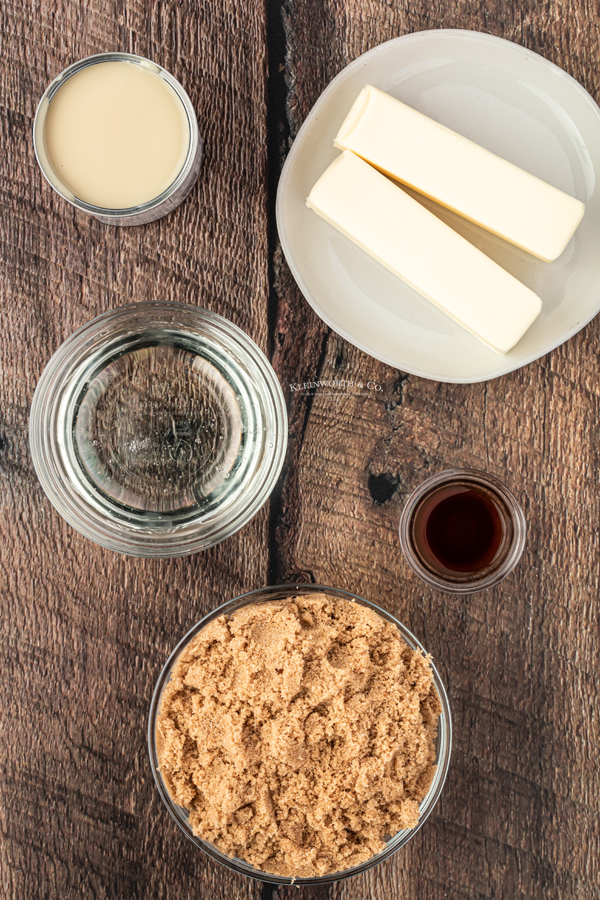 Homemade Caramel Ingredients