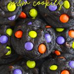 Halloween Chocolate M&M Cookies