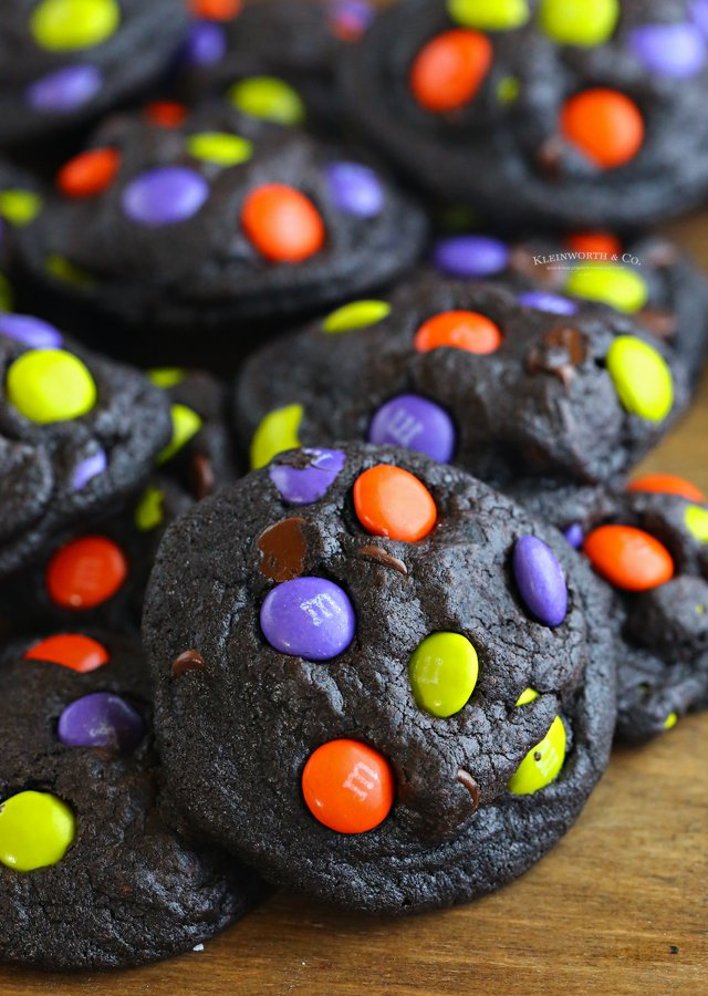 holiday halloween cookies with candy