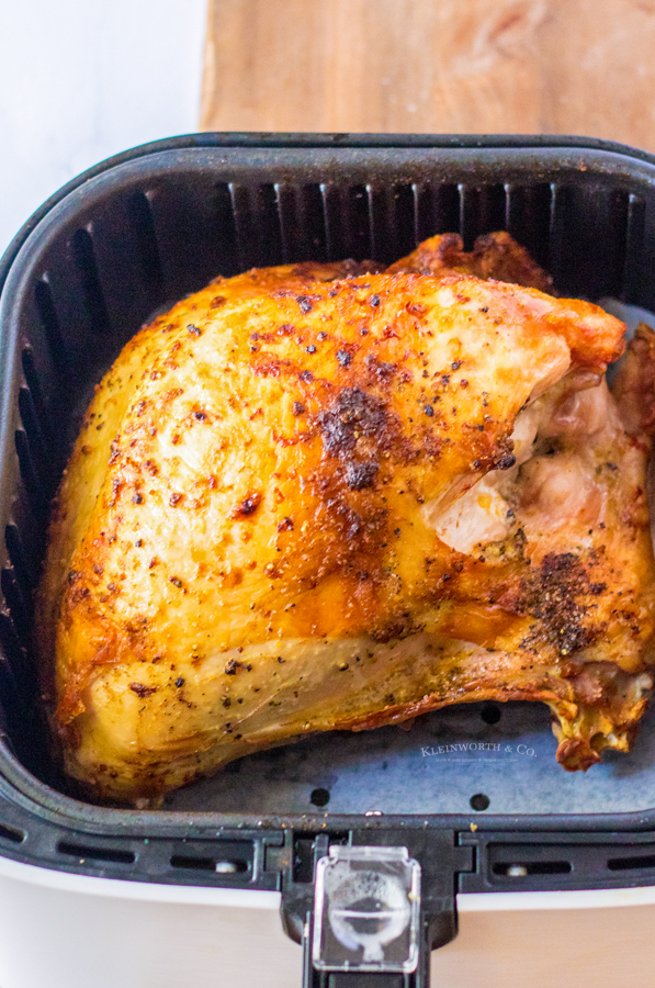 turkey cooked in the air fryer