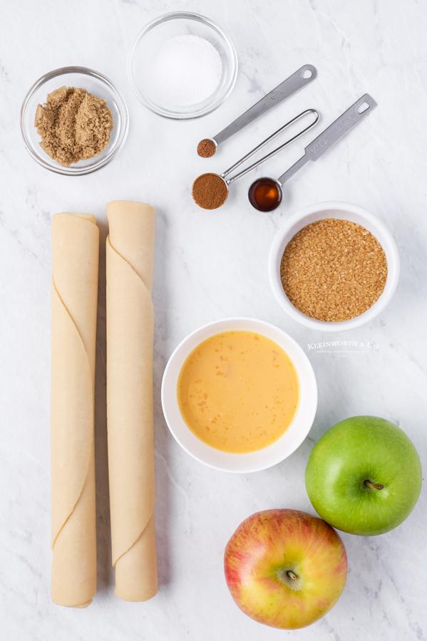 ingredients for Mini Apple Pies