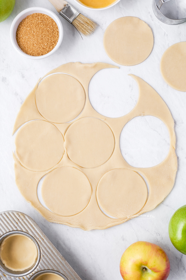 step 7 - rolling cutting dough