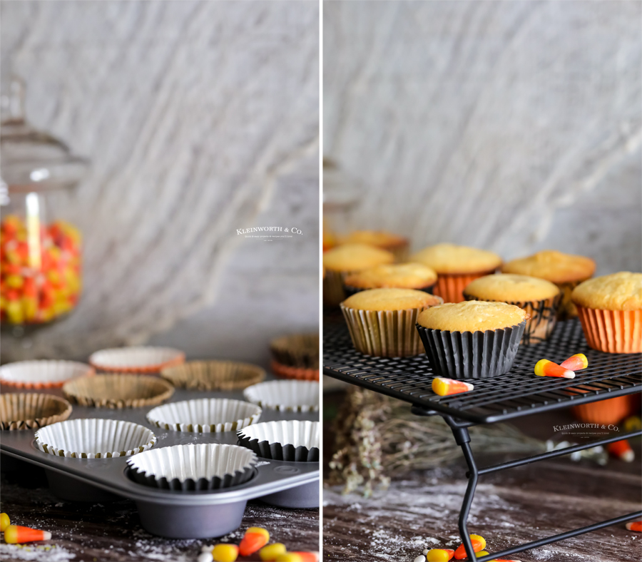 how to make vanilla cupcakes for Halloween