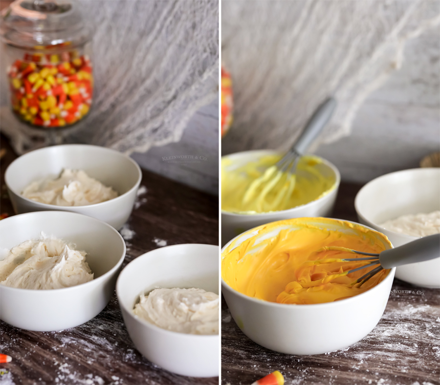 how to make candy corn frosting