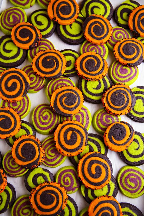 colorful pinwheel cookies