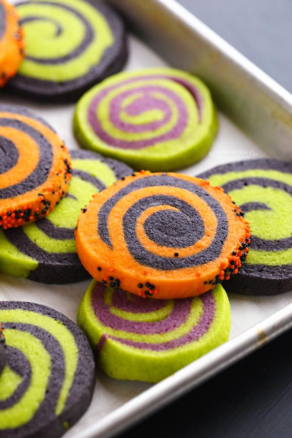 orange and black cookies