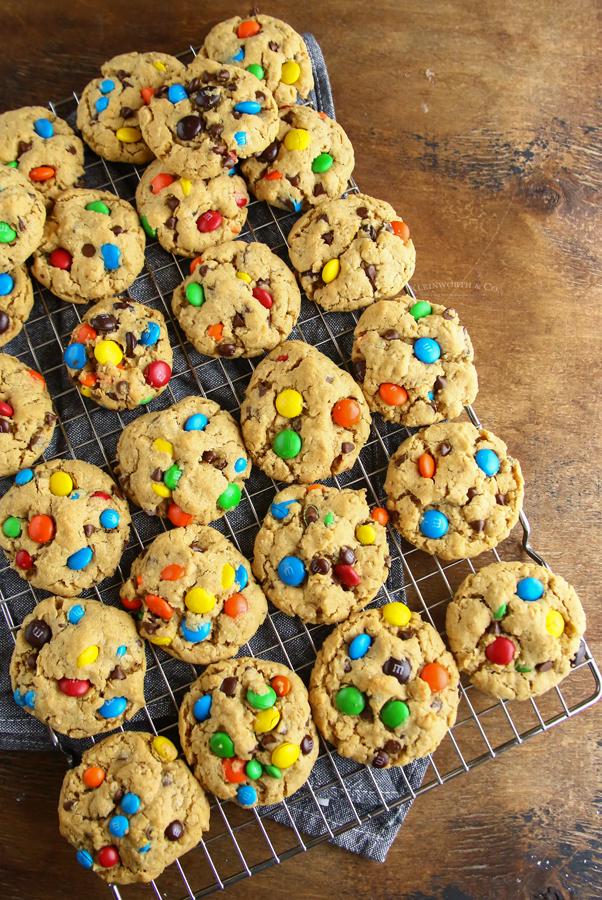 M&M Oatmeal Peanut Butter Cookies