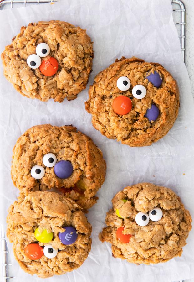 peanut butter oatmeal halloween cookies