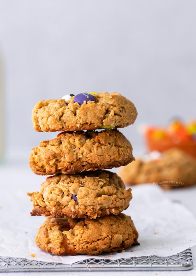 stack of halloween cookies