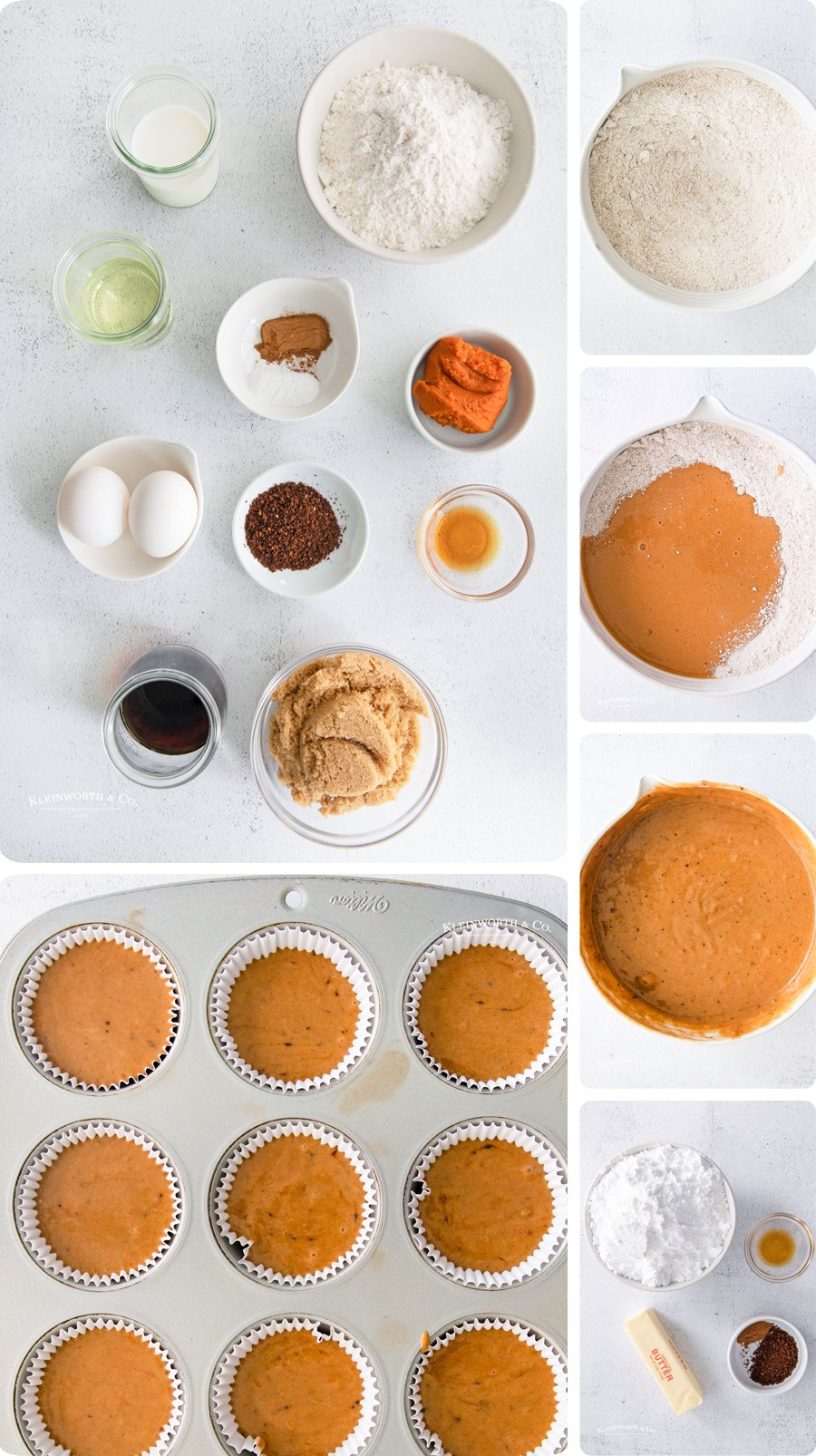 how to make Pumpkin Spice Cupcakes
