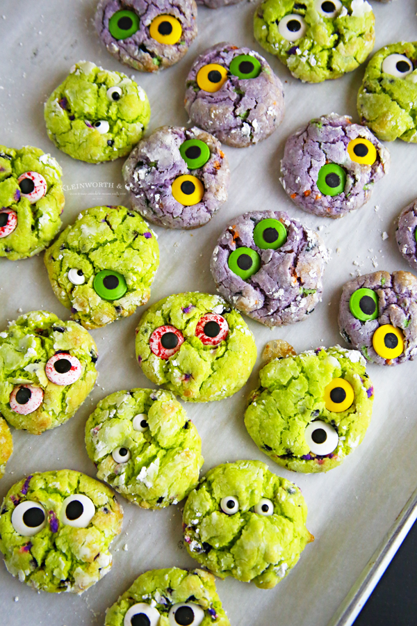 cake mix halloween cookies