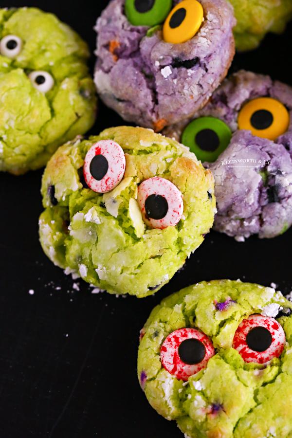 Green Halloween Cookies