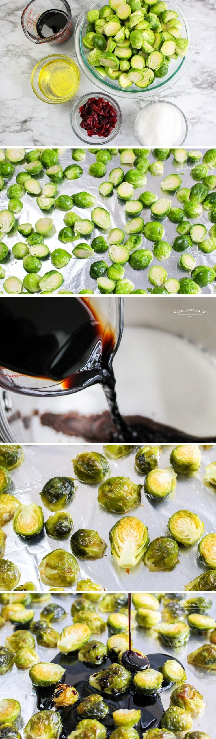 how to make Balsamic Brussel Sprouts roasted with cranberries
