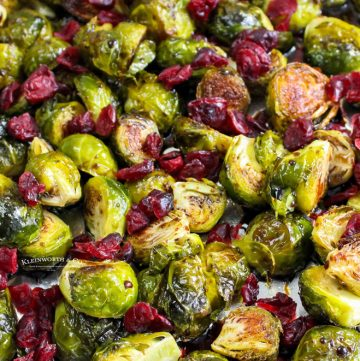 roasted Brussel Sprouts with cranberries