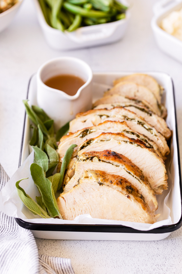 turkey seasoned with butter and herbs