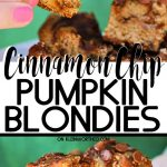Cinnamon Chip Pumpkin Blondies