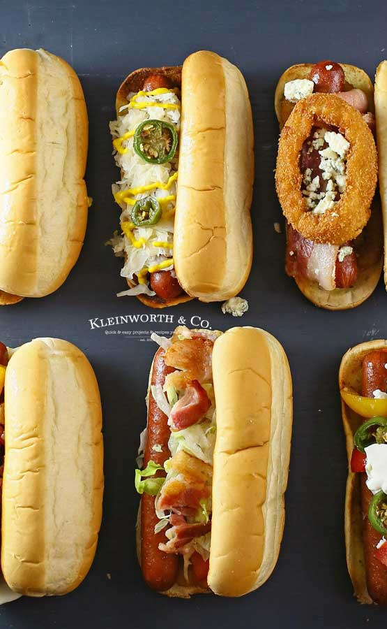hot dog recipes -Gourmet Hot Dogs