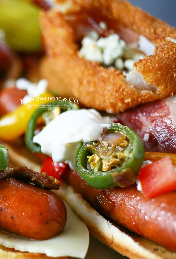 tailgating recipes - Gourmet Hot Dogs