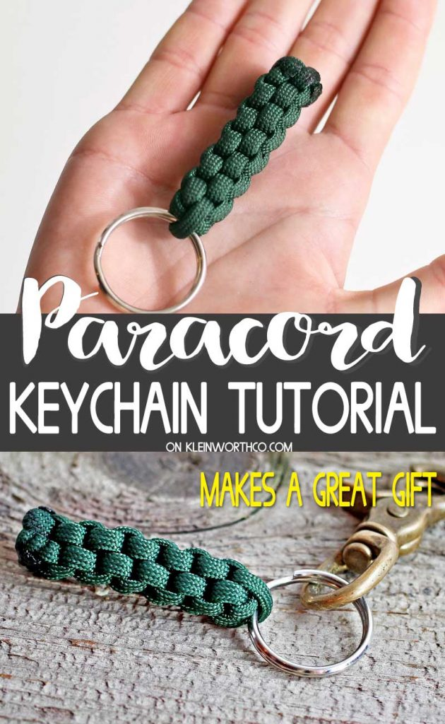 Paracord Survival Keychain - paracord keychain diy