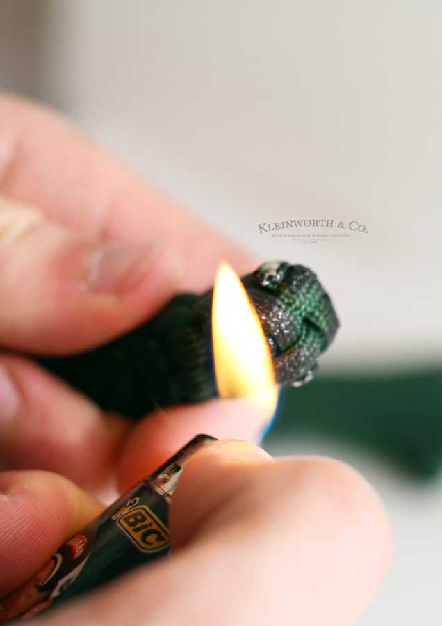 paracord keychain tutorial - burn ends again