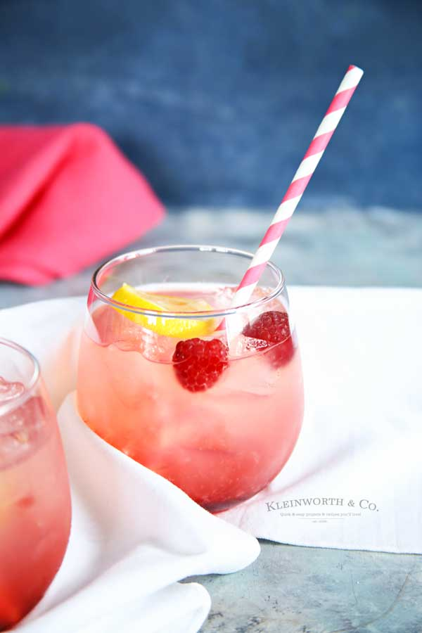 drink recipe - Raspberry Lemonade