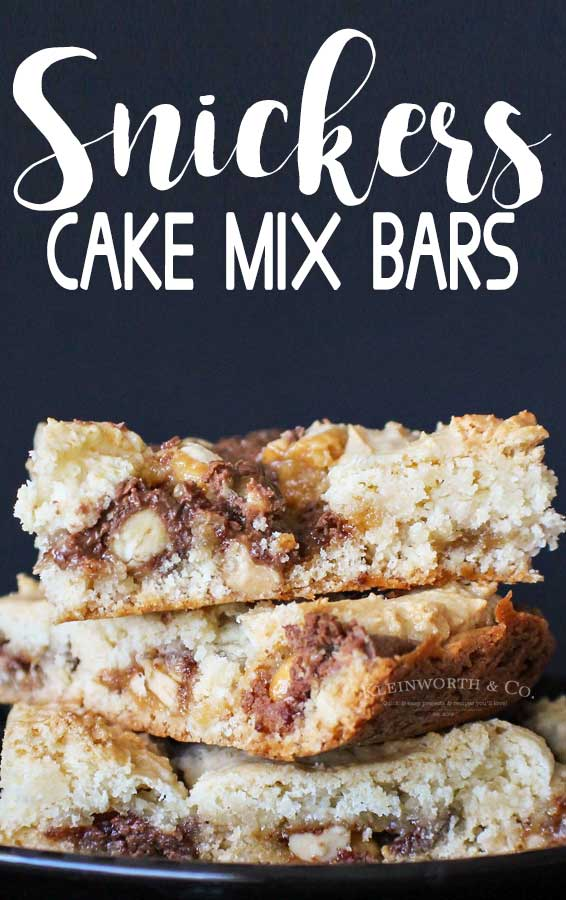 Snickers Cake Mix Bars