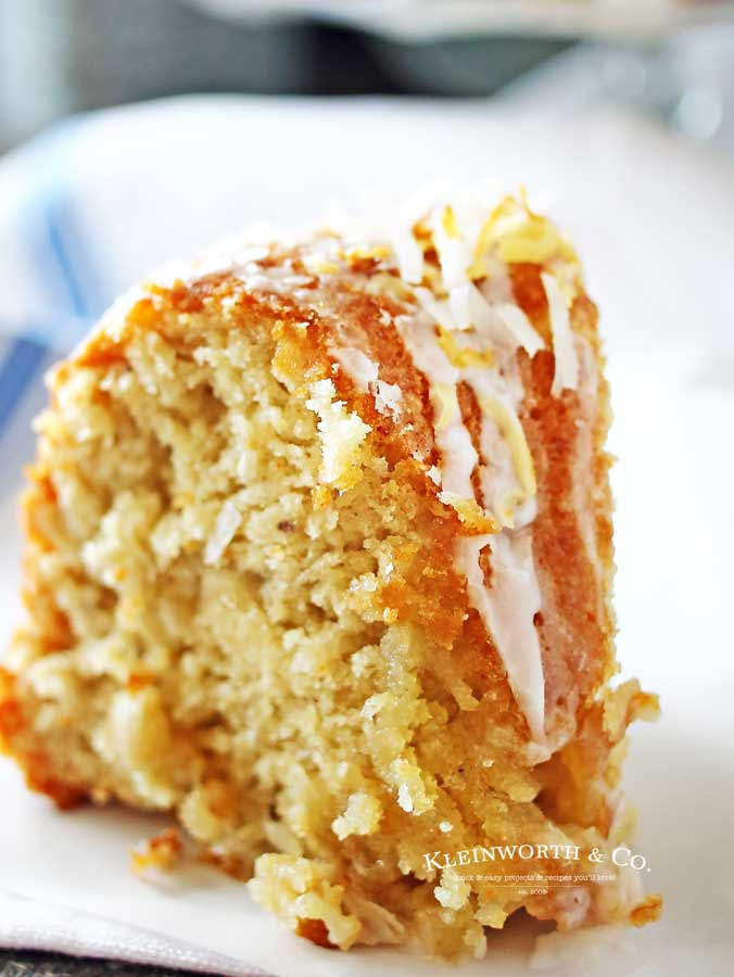 Easter Cake - Banana Coconut Bundt Cake