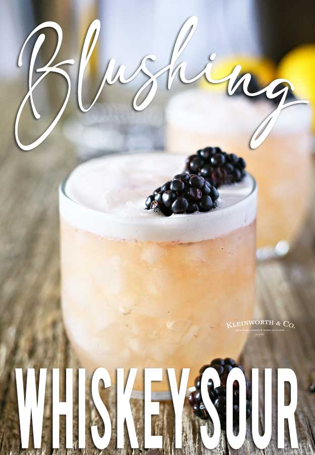 Recipe for Blushing Whiskey Sour