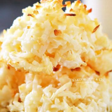Coconut Macaroons how to make