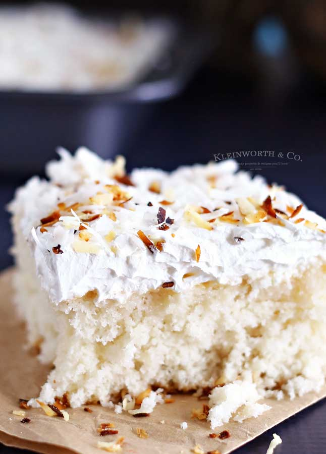 Super easy dessert Coconut Cream Cake
