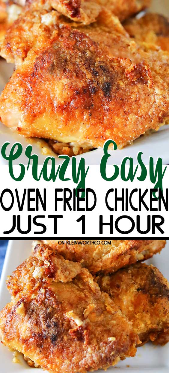 Crazy Easy Oven Fried Chicken