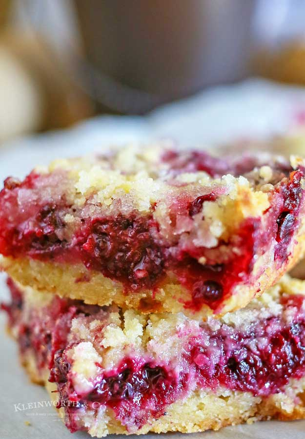 Blackberry Crumb Bars dessert
