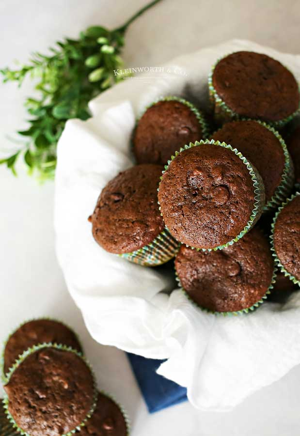 breakfast recipe -Chocolate Zucchini Muffins