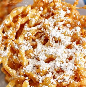 easy funnel cake recipe - funnel cake