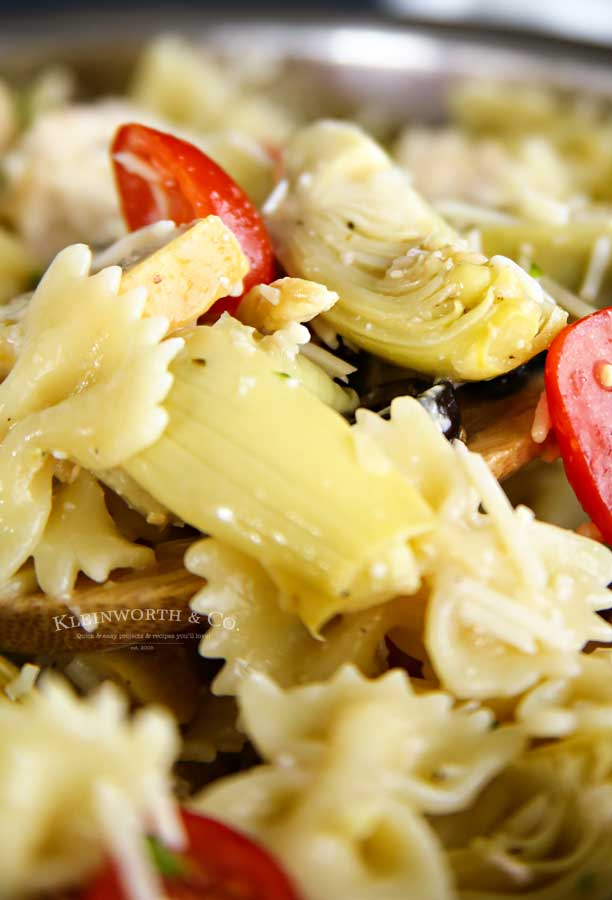 best Greek pasta Salad - Greek Feta Chicken Pasta Salad