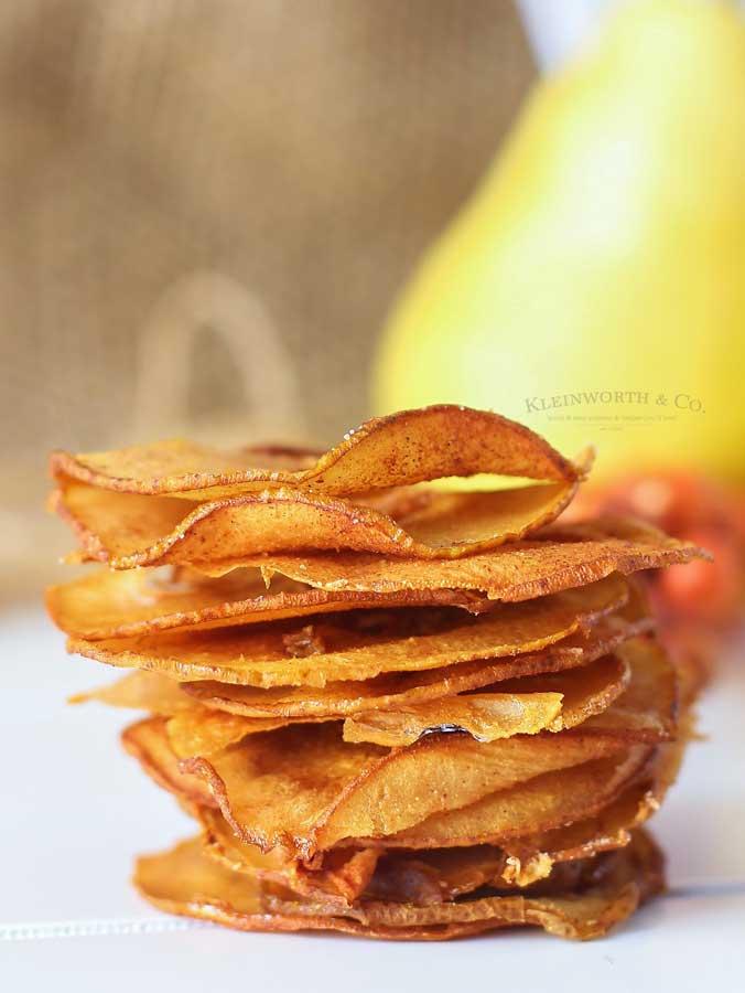 Cinnamon Pear Chips recipe