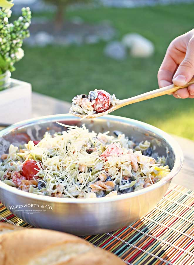 potluck recipe - Parmesan Ranch Pasta Salad