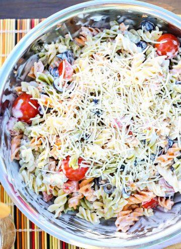 side dish recipe - Parmesan Ranch Pasta Salad