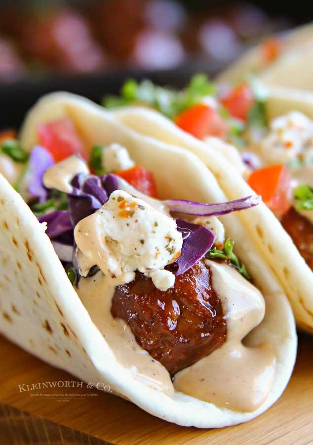 beef meatballs - BBQ Meatball Street Tacos