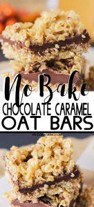 No-Bake Chocolate Caramel Oat Bars