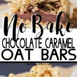 No-Bake Chocolate Caramel Oat Bars