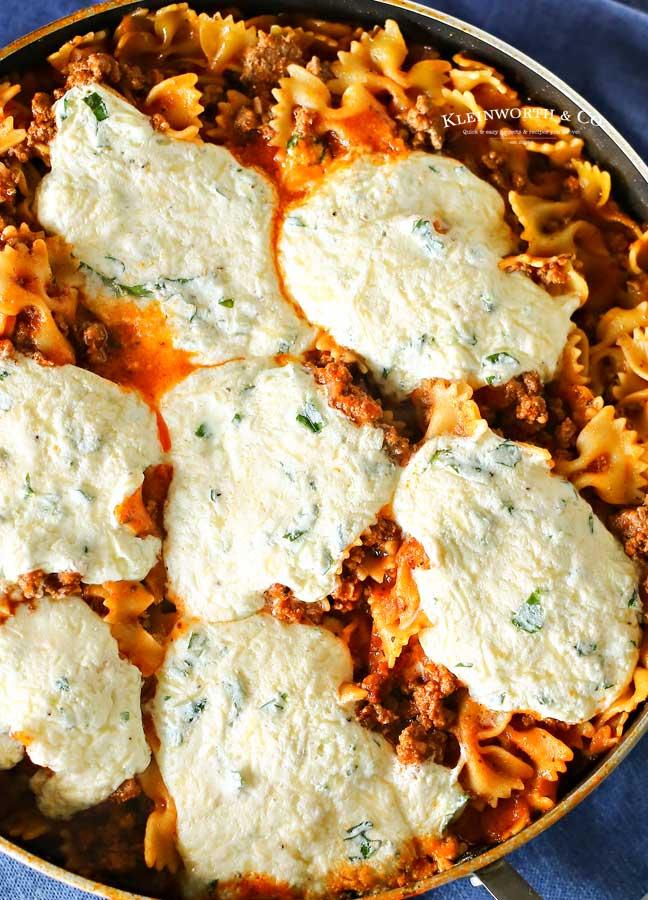 one pot lasagna - Skillet Lasagna