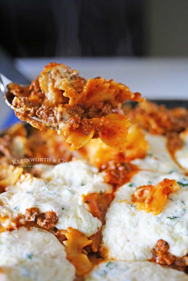 stove top lasagna, Skillet Lasagna