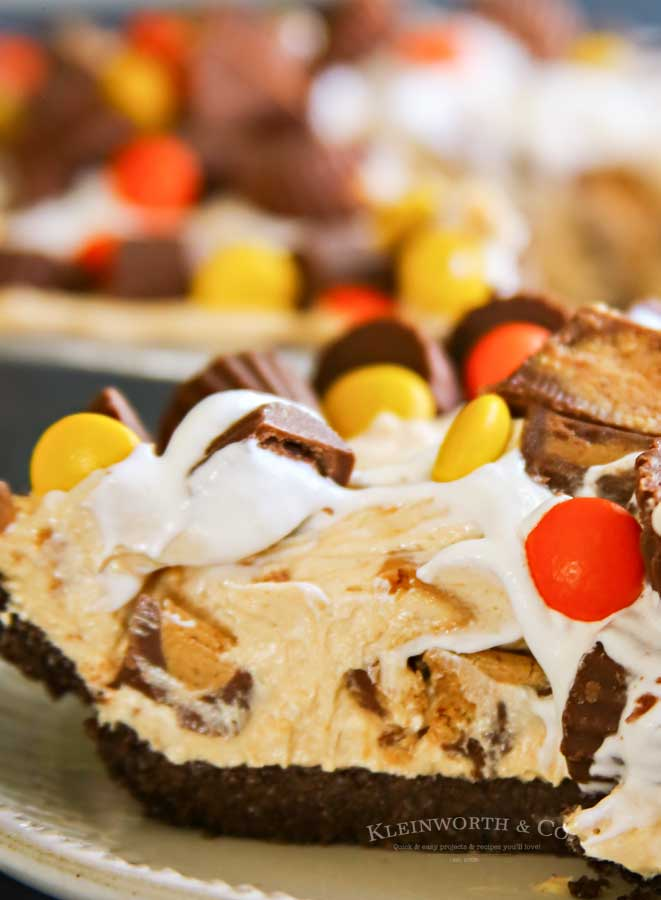 No-Bake Peanut Butter Pie with chocolate crust