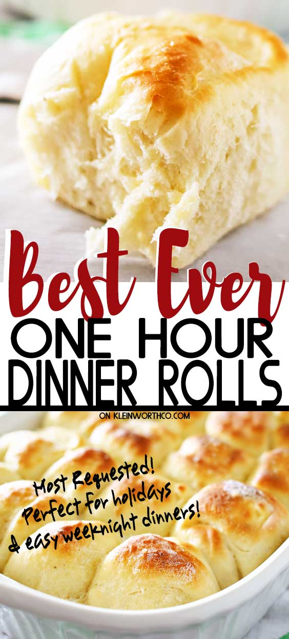 Best Ever One Hour Dinner Rolls