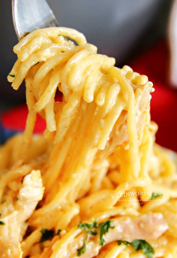 Dinner Cheesy Chicken Spaghetti